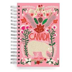 ecojot Canada 150 Jumbo Spiral Journal - Polar Bear, Pink