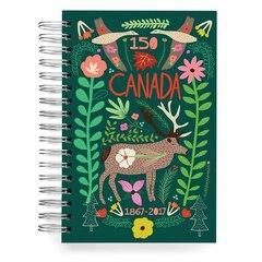 ecojot Canada 150 Jumbo Spiral Journal - Moose, Green