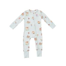 2 Way Zipper Romper, Pancakes Baby 3-6 Months