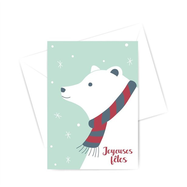 Boxed Cards - Polar bear (in French)