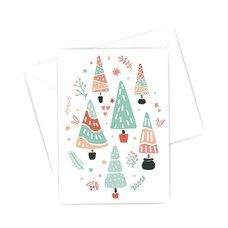 Boxed Cards - 6 Christmas trees (in French)