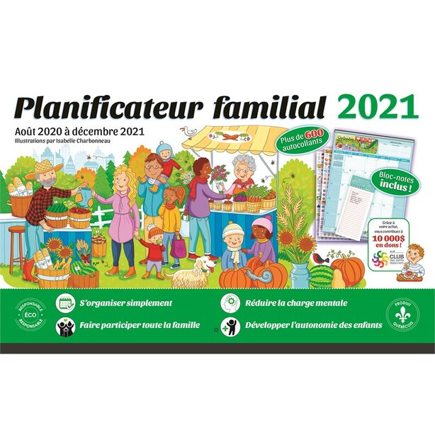 2021 FAMILY PLANNER (IN FRENCH)