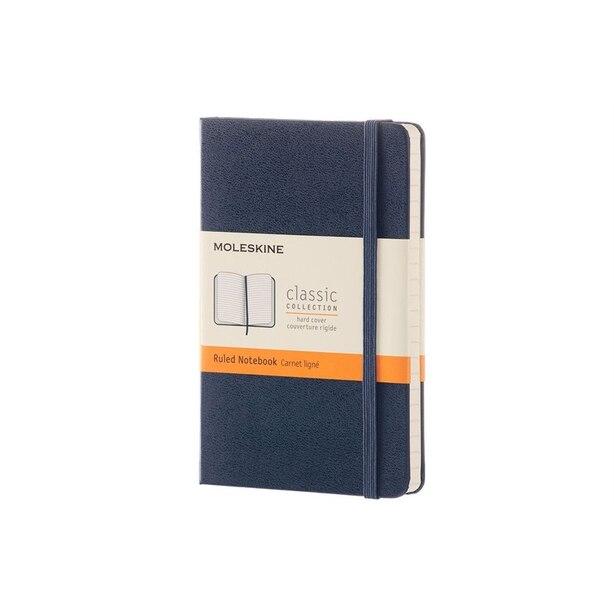 Moleskine Hard Cover Notebook Pocket Ruled Sapphire Blue