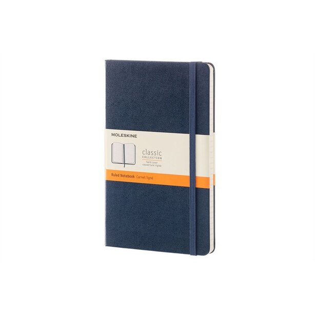 Moleskine Hard Cover Notebook Large Ruled Sapphire Blue