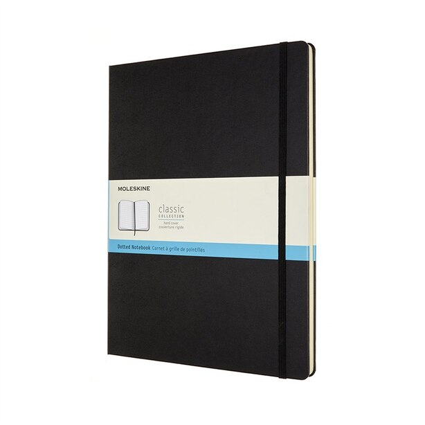 Moleskine Classic XXL Dotted Hard Cover Journal Black