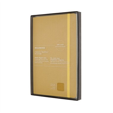 Moleskine Classic Leather Notebook Soft Cover Amber Yellow