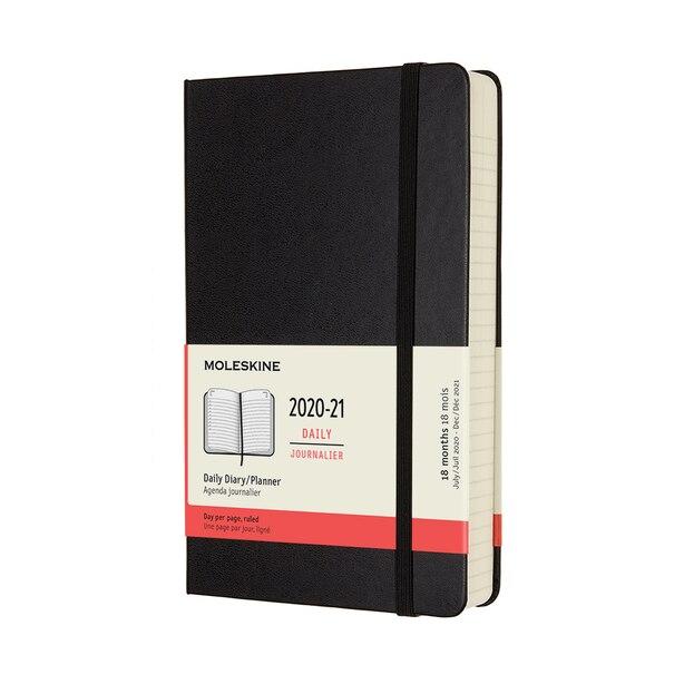 Moleskine July 2020 - December 2021 Hard Cover Daily Large Black Planner