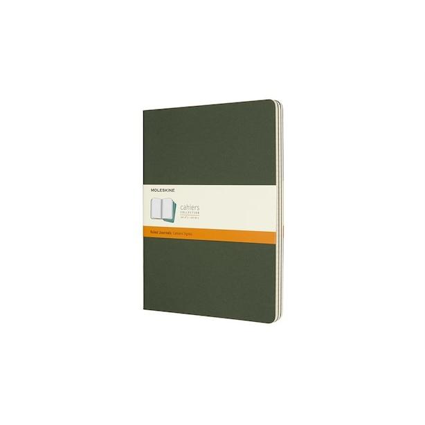 Moleskine Ruled Extra Large Cahier Set of 3 Myrtle Green