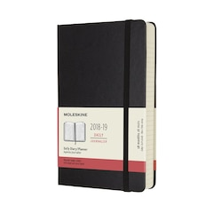 Moleskine 18-Month Large Hard Cover Daily Agenda - Black
