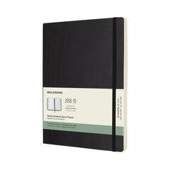 Moleskine 18-Month Extra Large Soft Cover Weekly Agenda - Black