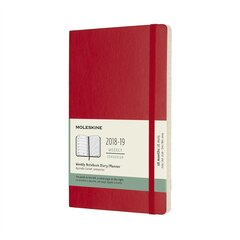 Moleskine 18-Month Large Soft Cover Weekly Agenda - Scarlet Red