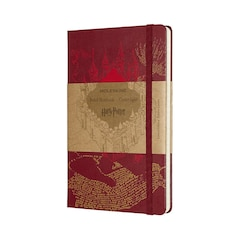Moleskine Limited Edition Notebook Harry Potter Large Ruled Map Red