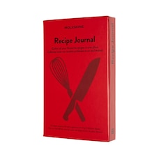 """Moleskine Passion Journal, Recipe, Hard Cover, Large (5"""" x 8.25""""), Scarlet Red"""