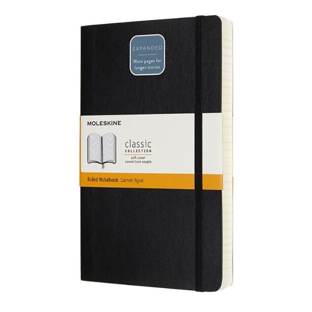 Moleskine Large Expanded Softcover Notebook Black