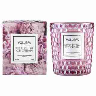 Voluspa Classic Boxed Candle - Rose Petal Ice Cream