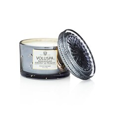 Voluspa® Lidded Glass Jar Candle - Makassar Ebony & Peach