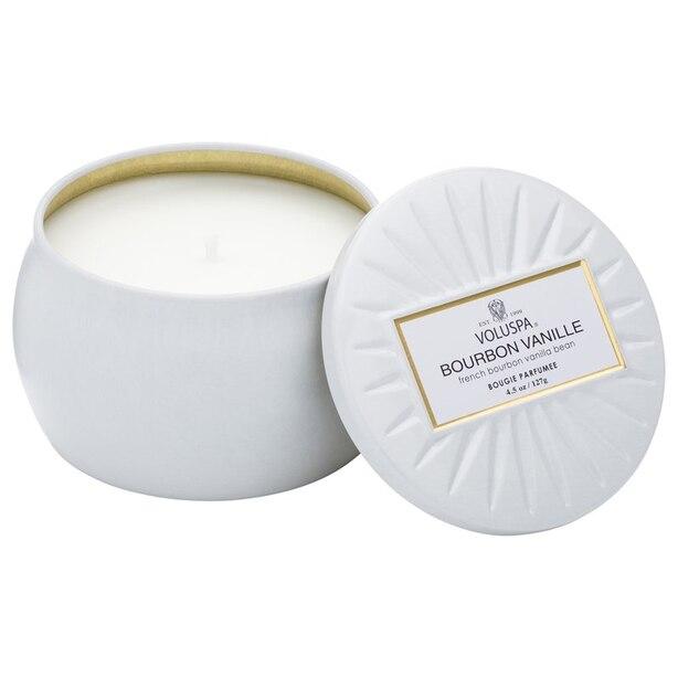 Voluspa® Mini Decorative Tin Candle - Bourbon Vanille
