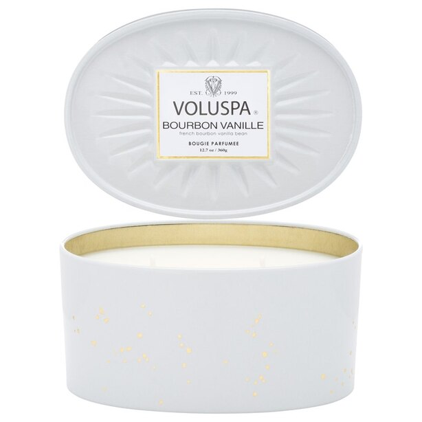 Voluspa® 2-Wick Oval Tin Candle - Bourbon Vanille