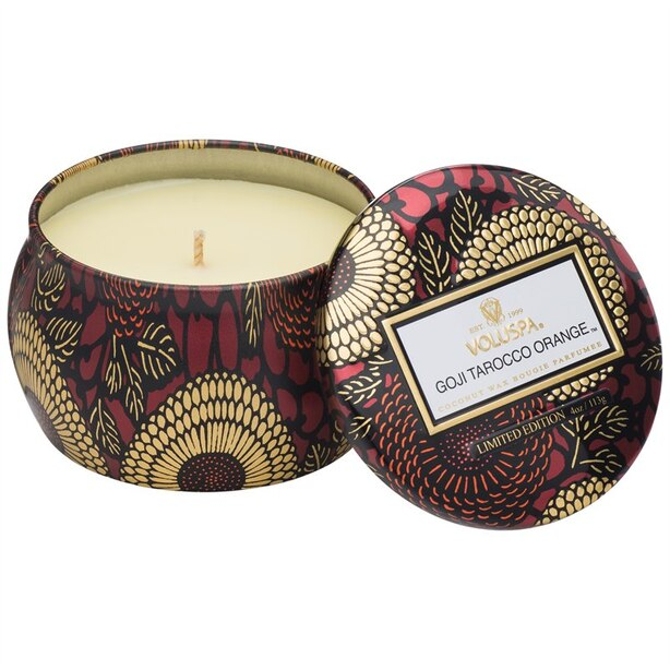 Voluspa® Petite Decorative Tin Candle - Goji & Tarocco Orange