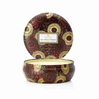 Voluspa® 3-Wick Decorative Tin Candle - Goji & Tarocco