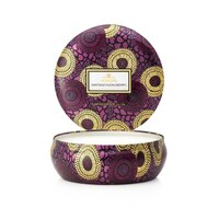 Voluspa® 3-Wick Decorative Tin Candle - Santiago Huckleberry