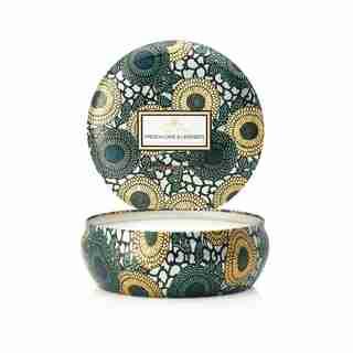 Voluspa® 3-Wick Decorative Tin Candle - French Cade Lavender