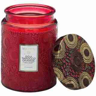 Voluspa® Large Glass Jar Candle - Goji & Tarocco Orange