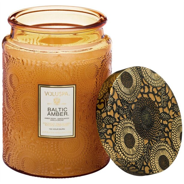 Voluspa® Large Glass Jar Candle - Baltic Amber