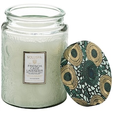 Voluspa® Large Glass Jar Candle - French Cade & Lavender