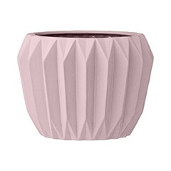 Fluted Flower Pot - Pink