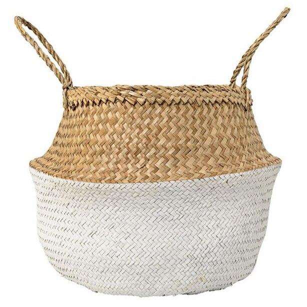 Seagrass Basket - Natural & White, Large