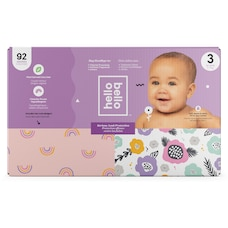 Hello Bello Club Diapers - Pink Rainbows / Spring Blooms - Size 3