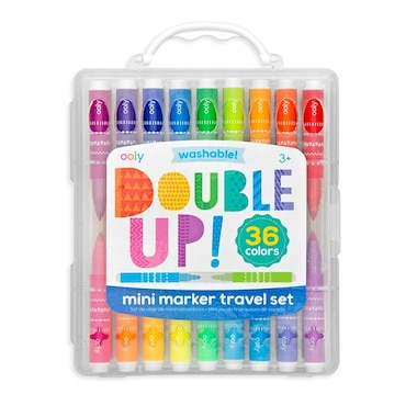 Ooly® Double Up! 2-in-1 Mini Markers Set of 36