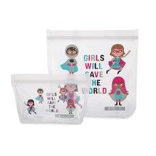 Full Circle® Reusable Lunch Bag Girls Set of 2