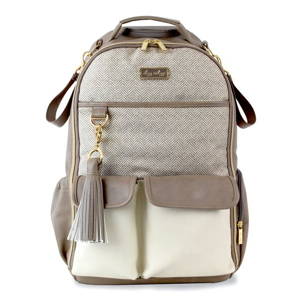 Itzy Ritzy Boss Backpack Diaper Bag Vanilla Latte Taupe