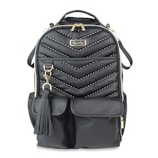 Itzy Ritzy Boss Backpack Diaper Bag Jet Setter Black with Gold Hardware
