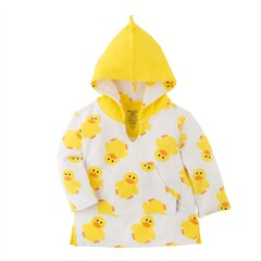 Zoocchini™ Baby Bath and Swim Coverup UPF 50 Plus Puddles the Duck 12 to 24 Months