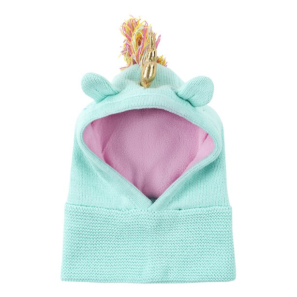 Zoocchini Winter Knit Balaclava Hat - Allie the Alicorn Baby 12-24 months