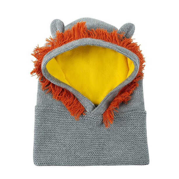 Zoocchini Winter Knit Balaclava Hat - Leo the Lion Baby 6-12 months