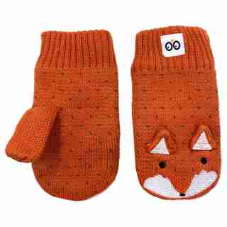 Zoocchini Winter Knit Mittens - Finley the Fox Baby 12-24 months