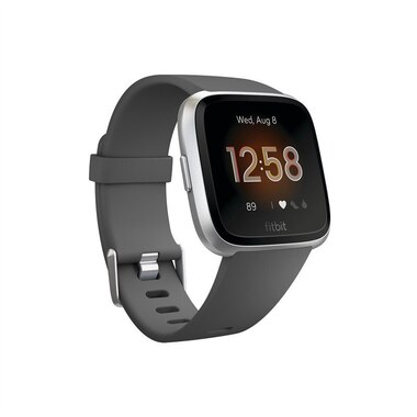 Fitbit Versa Lite - Charcoal with Silver Aluminum
