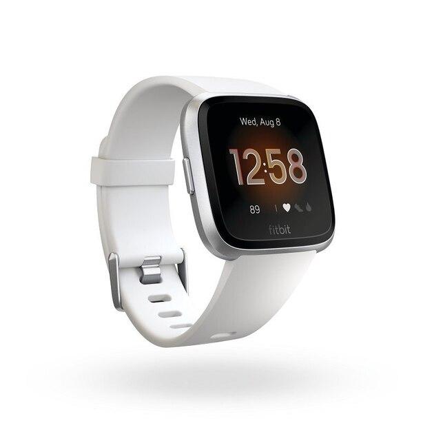 Fitbit Versa Lite - White with Silver Aluminum