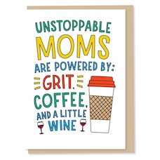 Paper E. Clips Mother's Day Card Little Wine