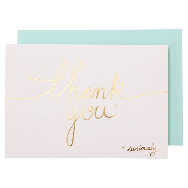 Thank You Seriously Note Cards, Set of 15