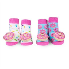 WADDLE RATTLE SOCKS 2PK, DONUTS