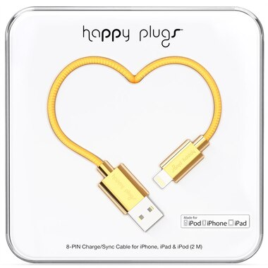 Happy Plugs Lightning Cable 2m - Gold