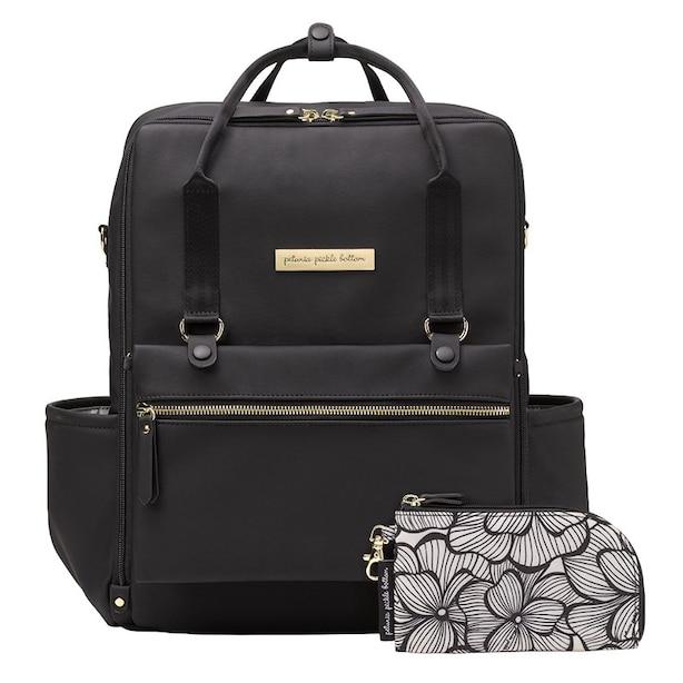 Petunia Pickle Bottom Balance Backpack Leatherette Black Matte