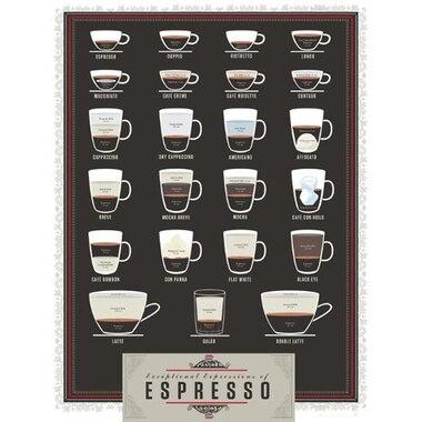 """POP CHART LAB EXPRESSIONS OF ESPRESSO ART PRINT - 16"""" X 20"""""""