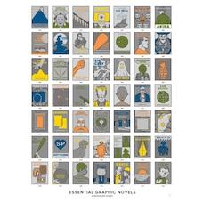 "POP CHART LAB GRAPHIC NOVEL SCRATCH ART PRINT - 16"" X 20"""