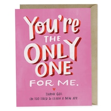 Paper E. Clips Valentine Card You're The Only One For Me